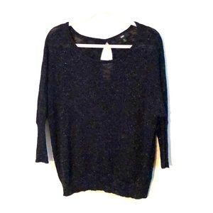 Black with silver sparkle Sweater